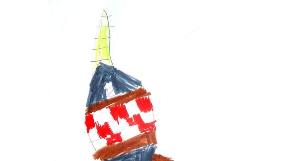 Eine Kinderzeichnung von Luis (4) aus der Schweiz