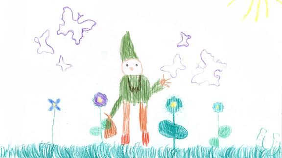 Eine Kinderzeichnung von Lotta aus Probsteierhagen