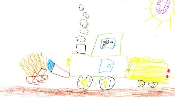 Kinderzeichnung von Marlene (7) aus Welgesheim