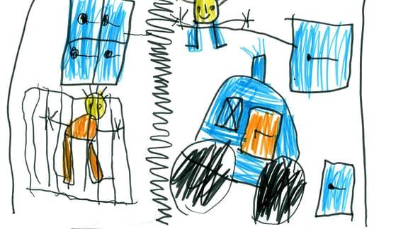 Kinderzeichnung von Hugo (6) aus Leipzig