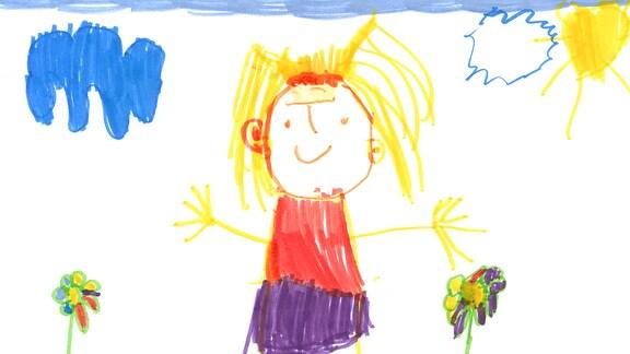 Kinderzeichnung von Melissa (4) aus Heilbronn