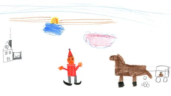 Kinderzeichnung von Nele (6) aus Halle an der Saale