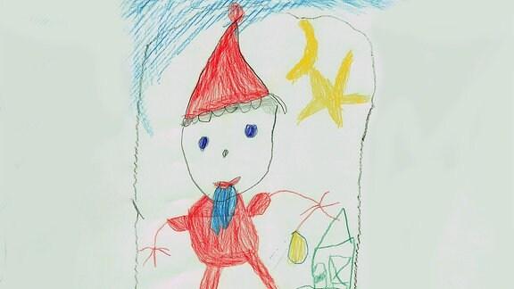 Kinderzeichnung von Sarah (4) aus Leipzig