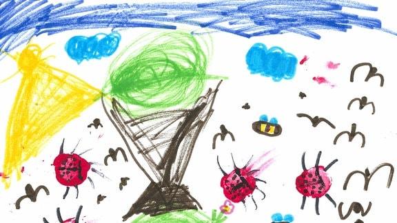 29.07. | Eine Kinderzeichnung von Greta (6) aus Groß-Rönnaua