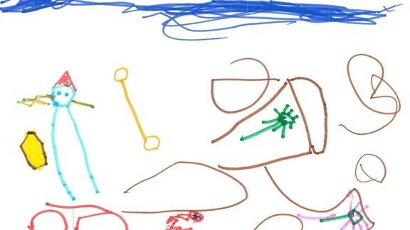 31.07. | Eine Kinderzeichnung von Maja (4) aus München