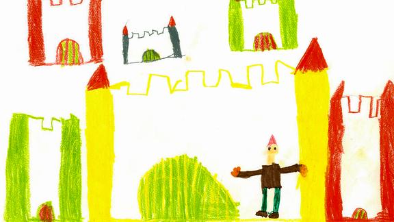 02.08. | Eine Kinderzeichnung von Jasmin (6) aus Hefigkofen