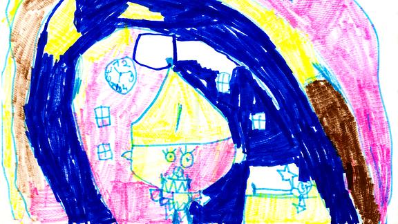 06.08. | Eine Kinderzeichnung von Samira (6) aus Albrechts