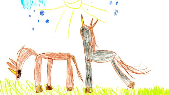 08.08. | Eine Kinderzeichnung von Mila (5) aus Diera-Zehren