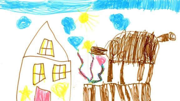 12.08. | Eine Kinderzeichnung von Charlotte aus Ottobrunn