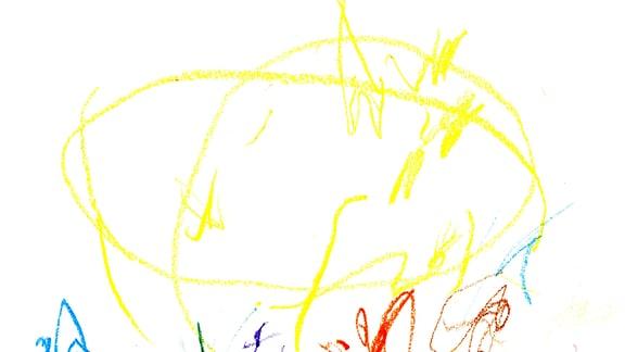 13.08. | Eine Kinderzeichnung von Hedi (2) aus Erfurt
