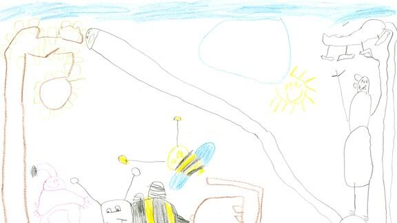 14.08. | Eine Kinderzeichnung von Emil aus Fürstenau