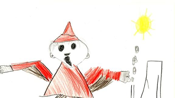 15.08. | Eine Kinderzeichnung von Hanno (5) aus Münster