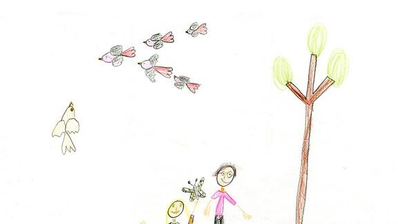Kinderzeichnung von Ruby (7) aus Basdorf