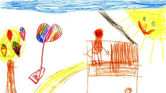 Kinderzeichnung von Hannah aus Rützengrün