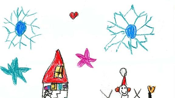 Kinderzeichnung von Rita aus Erding