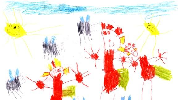 Kinderzeichnung von Judith (4) aus Einbeck