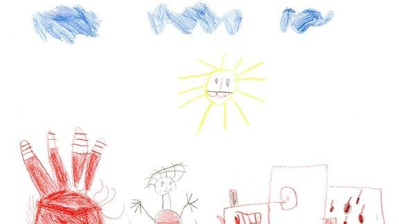 Eine Kinderzeichnung von Janne (5) aus Lößnitz