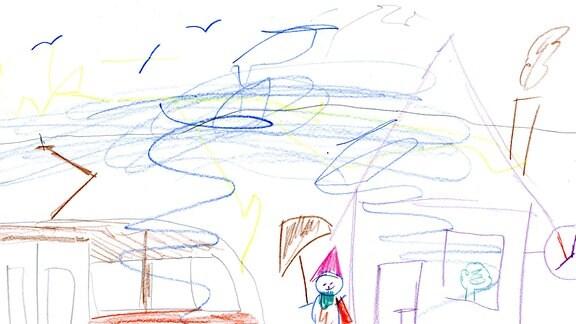 Kinderzeichnung von Lucien Vincent (4) aus Suhr (Schweiz)