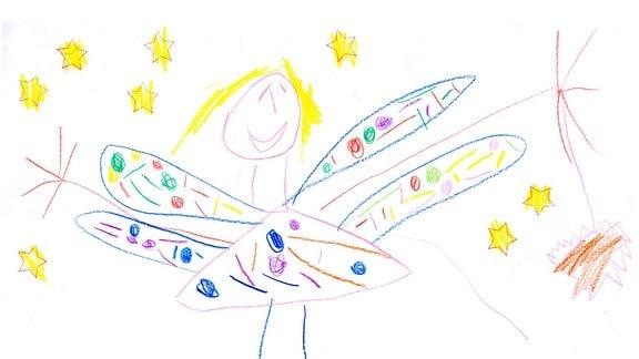 Kinderzeichnung von Lina (4) aus Jena