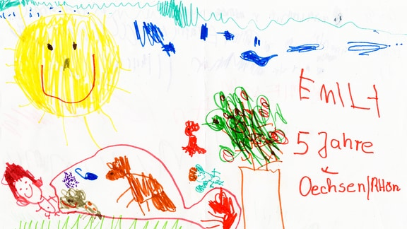 Kinderzeichnung von Emilia (5) aus Oechsen