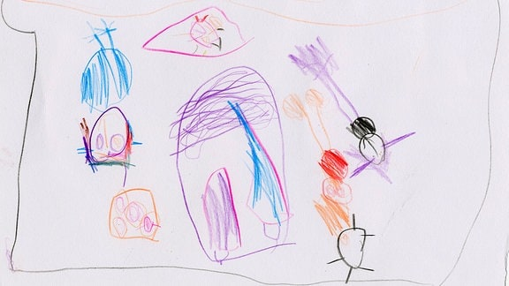 Kinderzeichnung von Isabelle (4) aus Wuppertal