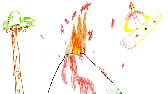 Kinderzeichnung von Jakob (5) aus Schwalmtal