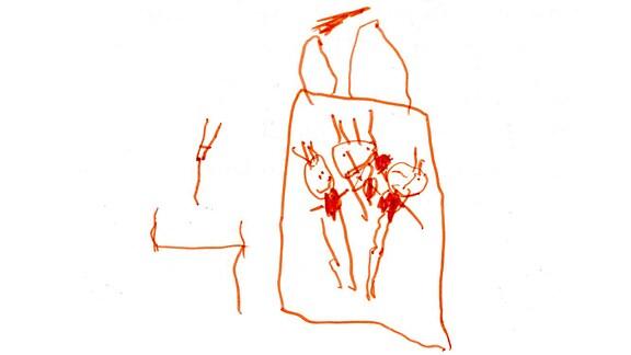 Kinderzeichnung von Marvin (4) aus Lienheim