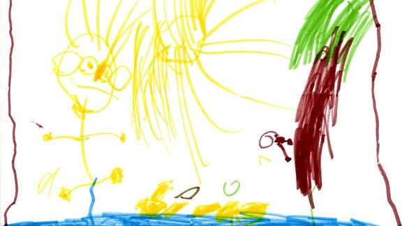 Kinderzeichnung von Milena (4) aus Coburg