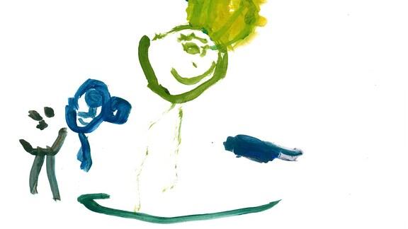 Kinderzeichnung von Tilda (3) aus Mönchengladbach