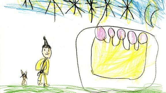 Kinderzeichnung von Hagar aus Winsen