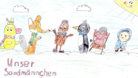 Kinderzeichnung von Helene aus Steinigtwolmsdorf