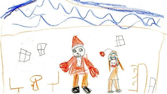 Kinderzeichnung von Bianca aus Vohenstrauss