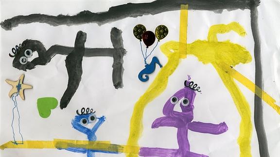 Kinderzeichnung von Ben aus Kißlegg