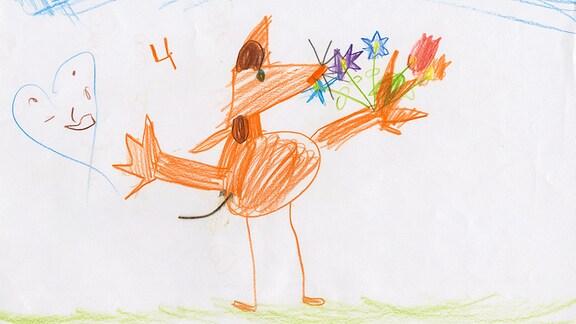 Kinderzeichnung von Emma aus Zschopau