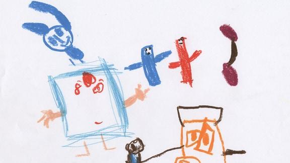 Kinderzeichnung von Bela aus Taunusstein