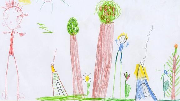 20.07. | Kinderzeichnung von Linda (5) und Heidi (3) aus  Glauchau