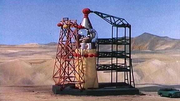 Sandmännchens Rakete steht am Start.