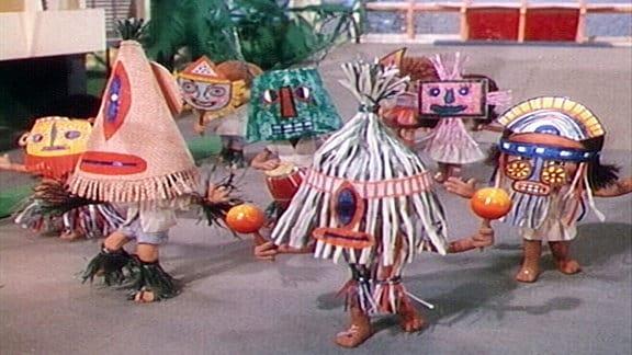 Sandmännchen beim Karneval.