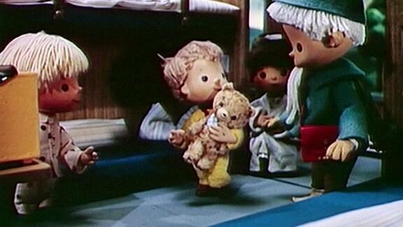 Sanmännchen bei den Kindern.