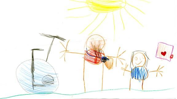 Kinderzeichnung von Emma (4) aus Nesselried