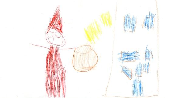 Kinderzeichnung von Fabian (5) aus Niedergräfenhain