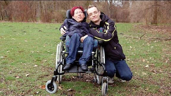 Thomas und Anke im Park