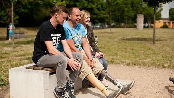 Ivo mit seinen beiden Kindern