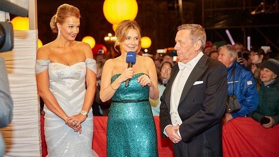 Franziska van Almsick, Kim Fisher und Roland Kaiser