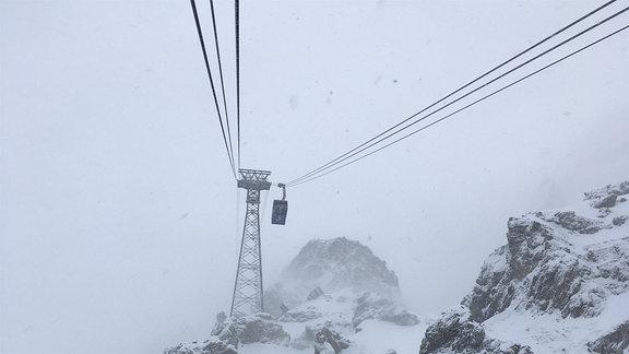 Das Terrain auf der Zugspitze. Hier baute Bleichert 1926 die erste Seilschwebebahn auf die Zugspitze.