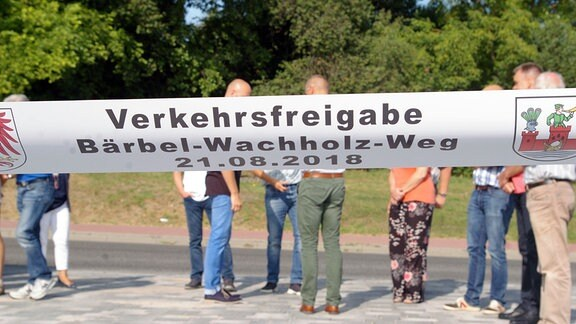 Freigabe Bärbel-Wachholz-Weg am 21.08.2018 in Angermünde
