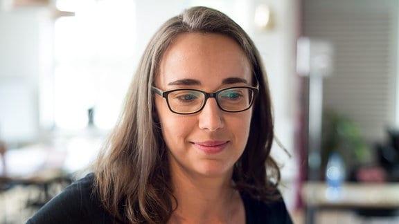 Julia Ryssel (30) im Impact Hub in Dresden