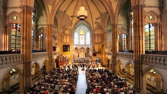 Aufzeichnung aus der Peterskirche Leipzig - Innenansicht Leipziger Peterskirche
