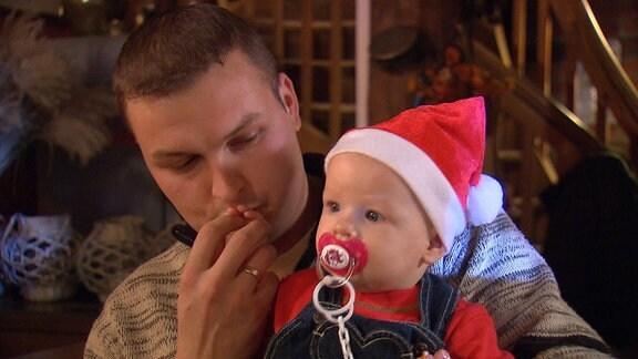 Kleiner Weihnachtsmann der Familie Drezek.