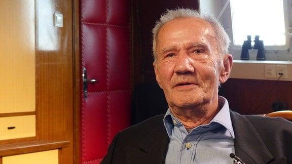 """Siegfried Rohmann, Erster Offizier auf der """"Fichte""""."""